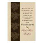 Renewing Wedding Vows Invitation- Brown/Beige/Gold Card