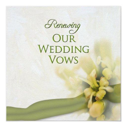 Romantic Places Renew Wedding Vows: Renewing Wedding Vows - Invitation - Floral