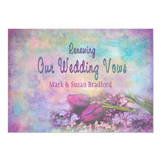 Renewing Wedding Vows - Invitation Floral Elegance