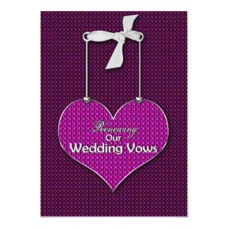 Renewing Wedding Vows - Invitation  Hearts