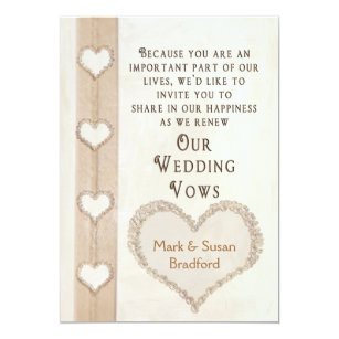 Renewing Wedding Vows Invitation Hearts Together