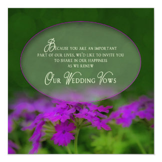 Renewing Wedding Vows Invitation-Oval Insert/Green Card