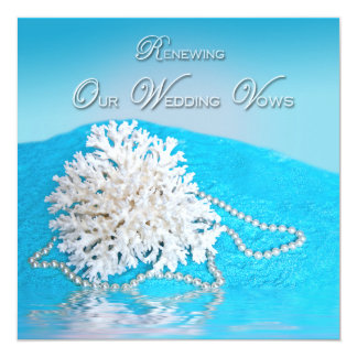 RENEWING WEDDING VOWS -INVITATION -SEA SHELL/BEACH CARD