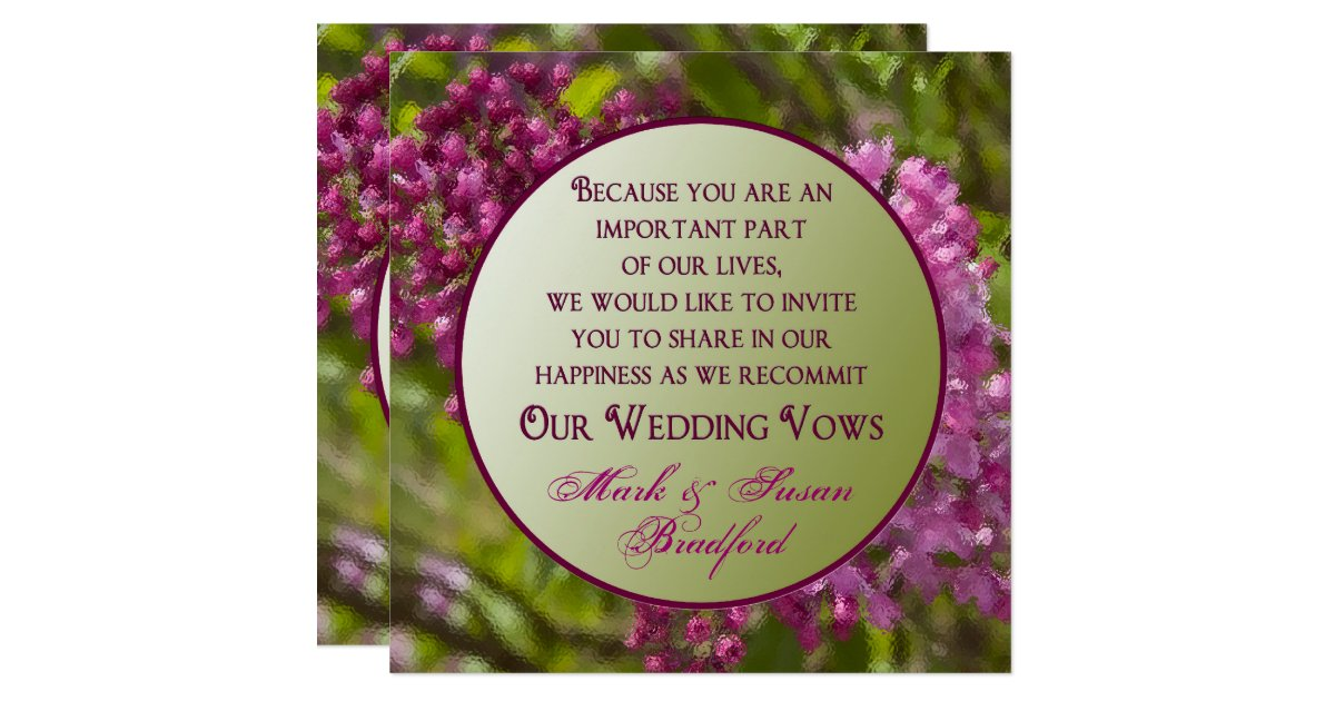 Renewing Wedding Vows Invitations