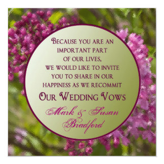 Renewing Wedding Vows Invitations - Lilacs/glass