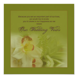 Renewing Wedding Vows - Invitations - Orchids