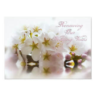 Renewing Wedding Vows - InvitationsCherry Blossoms Card