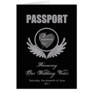 RENEWING WEDDING VOWS - PASSPORT INVITATION