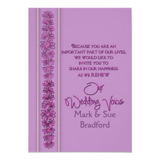 Renewing Wedding Vows - Radiant Orchid - Card