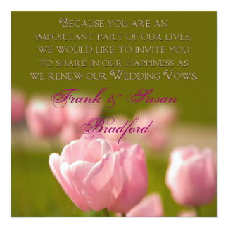 RENEWING WEDDING VOWS - TULIPS CARD