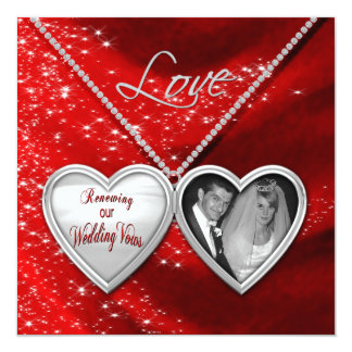 Renewing Wedding Vows - Valentine Invitations