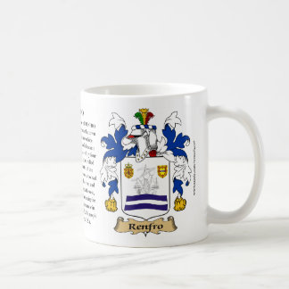 Renfro, the Origin, the Meaning and the Crest Coffee Mug