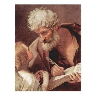 Reni, Guido Hl. Matth?us Evangelist und der Engel  Postcard