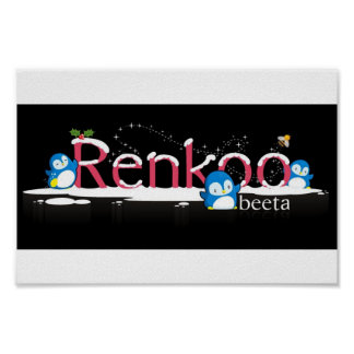 Renkoo Penguin Logo Poster