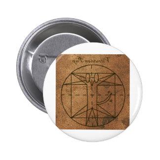 Rennaisance Encryption Vitruvian Pup Buttons