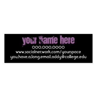Rennie Mac Personal Contact Card Double-Sided Mini Business Cards (Pack Of 20)
