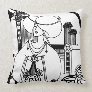 Rennie MacKintosh inspired Throw Pillow