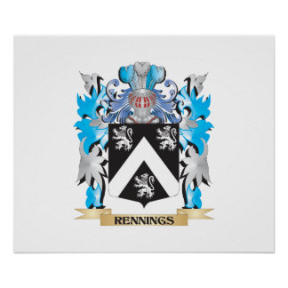 Rennings Coat of Arms - Family Crest Poster