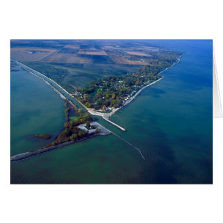Reno Beach at Lake Erie Aerial Photograph Card