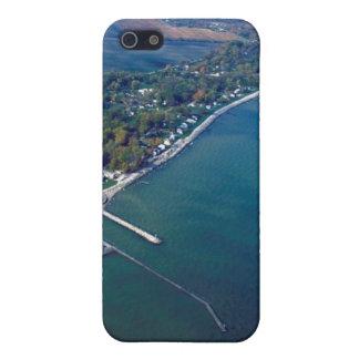 Reno Beach at Lake Erie Aerial Photograph iPhone 5 Cover