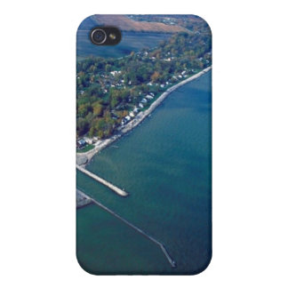 Reno Beach at Lake Erie Aerial Photograph iPhone 4/4S Cover