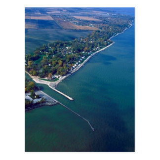 Reno Beach at Lake Erie Aerial Photograph Postcard