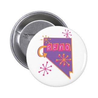 Reno Bright Pinback Button