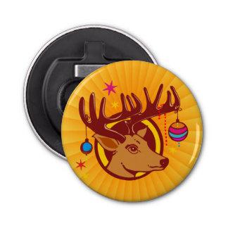 Reno/ciervos/navidad + su idea abrebotellas redondo