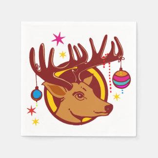 Reno/ciervos/navidad + su idea servilleta de papel