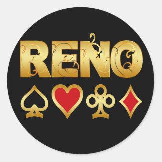 RENO CLASSIC ROUND STICKER