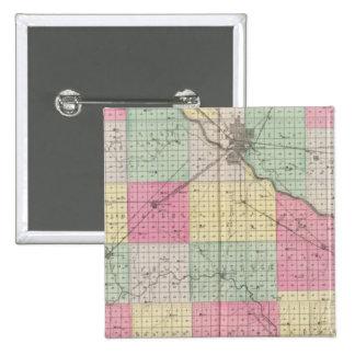Reno Coand Plevna, Kent, Elmer, Kansas Pin Cuadrado