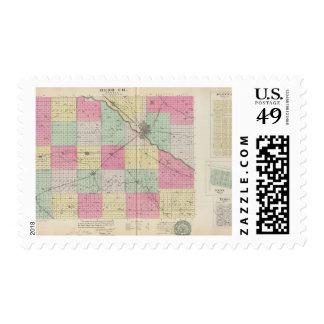 Reno Coand Plevna, Kent, Elmer, Kansas Postage