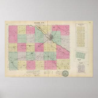 Reno Coand Plevna, Kent, Elmer, Kansas Póster