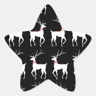 Reno con los arcos del rojo en negro pegatina en forma de estrella