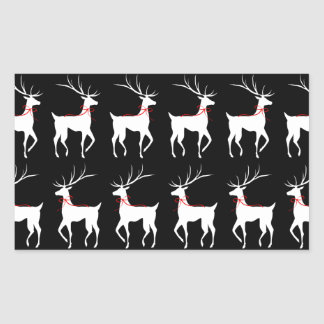 Reno con los arcos del rojo en negro pegatina rectangular