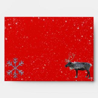 Reno, copos de nieve invierno y sobre del navidad