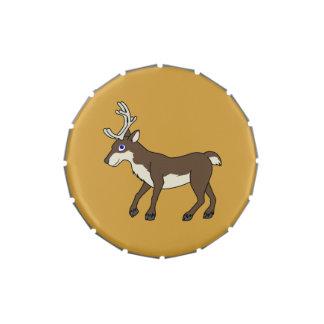 Reno de Brown con las astas Frascos De Caramelos