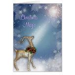 Reno de la magia del navidad tarjeta