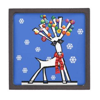 Reno de las felices Navidad Cajas De Joyas De Calidad