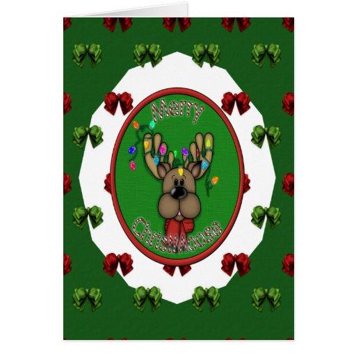 Reno de las Felices Navidad Felicitación
