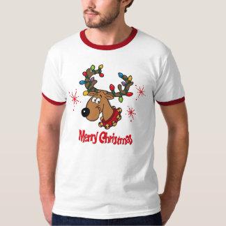 Reno de las Felices Navidad Playera