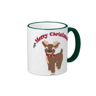 Reno de las Felices Navidad Tazas De Café