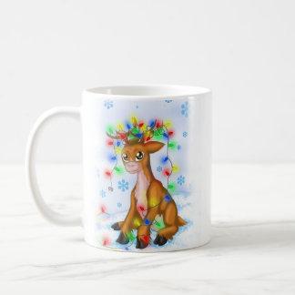 Reno de las luces de navidad tazas de café