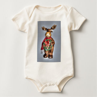 reno de madera del navidad del Handcarved-efecto Body De Bebé