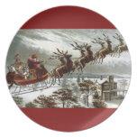 Reno de Papá Noel del Victorian del vintage de Nic Plato