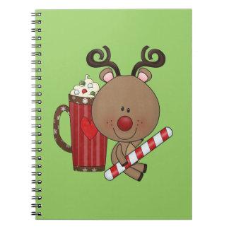 Reno de Rudy con cacao Spiral Notebook