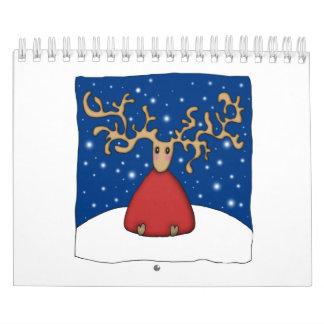 Reno del navidad calendarios de pared