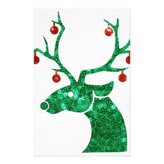 reno del navidad de la lentejuela papeleria personalizada