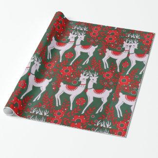 Reno del navidad papel de regalo