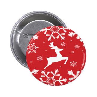 Reno del navidad pin redondo 5 cm